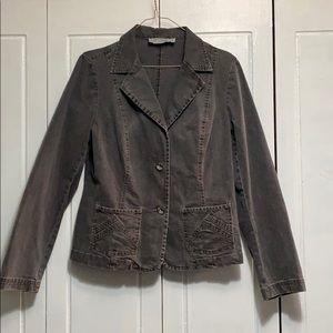 Tribal Jeans gray jean jacket size 10